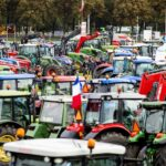Protesting farmers in the Netherlands